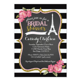 French Paris Bridal Shower invitation