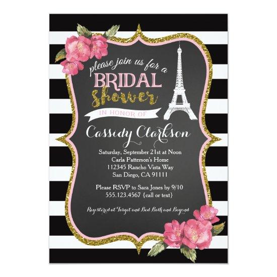 French Paris Bridal Shower invitation