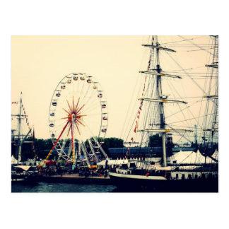 French Paris Wheel Postcard