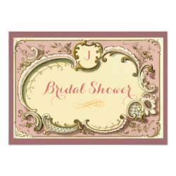 French Parisian VIntage Floral Bridal Shower Card
