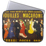 French Pasta Advertisement 1901 Laptop Sleeves