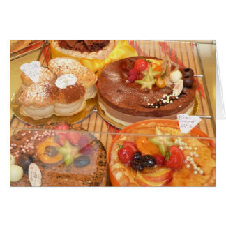 French Pastries notecard by Brad Hines