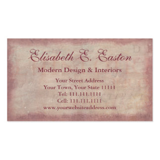 French Patina Vintage Red Toile Pompei Colors Business Card
