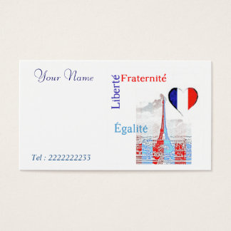 French patriotic business card