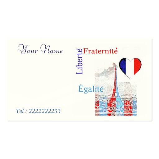 French patriotic business card template zazzle for Patriotic business card template