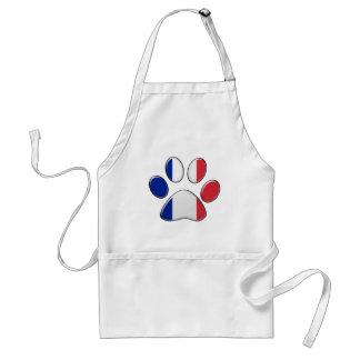 French patriotic cat adult apron