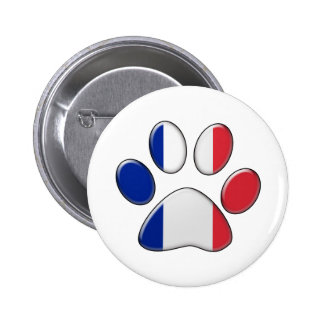 French patriotic cat button