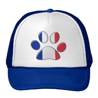French patriotic cat trucker hat