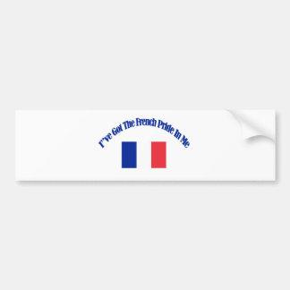 French patriotic flag designs car bumper sticker