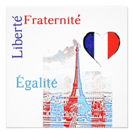 French patriotic invite