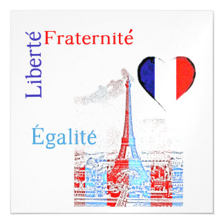 French patriotic magnetic card