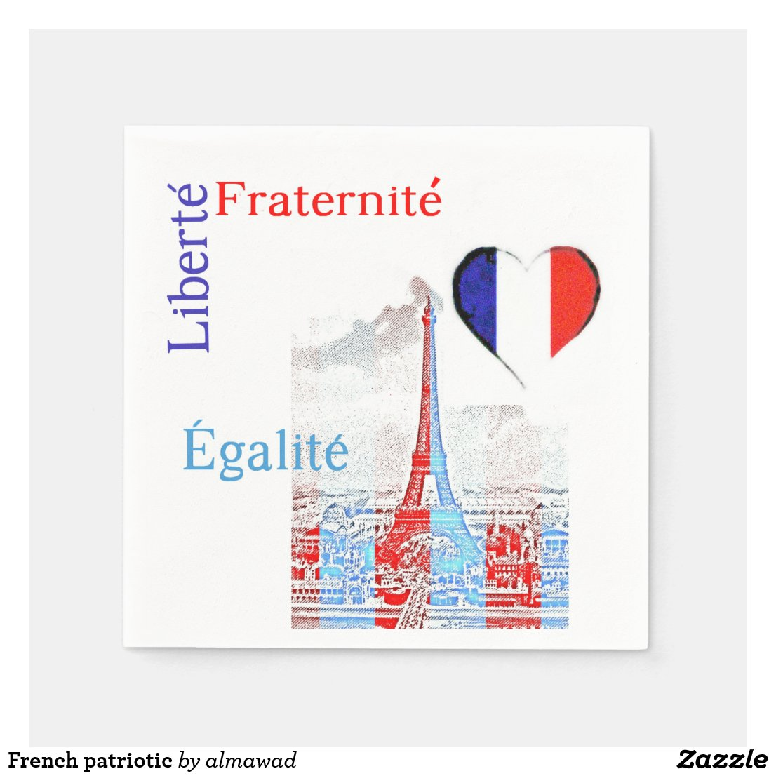 French patriotic napkin