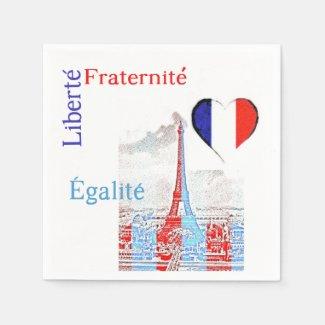French patriotic napkin