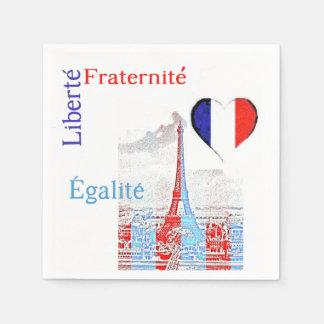 French patriotic paper napkins