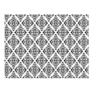 French Pattern in Black & White Postcard