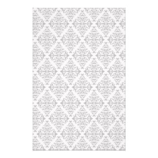 French Pattern in Black & White Stationery