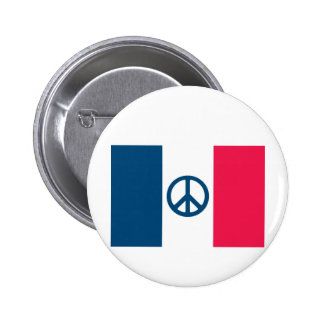 French Peace 2 Inch Round Button