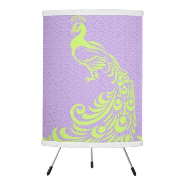 Halloween Themed French-Peacock-Lavender-Lime-Shades-Tri-pods-Lamps Tripod Lamp