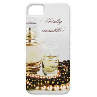 French perfume bottles and pearl necklace iPhone 5 cases