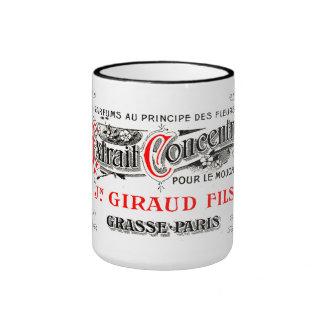 French perfume label art mug