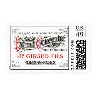 French Perfume Label Art Postage Stamp
