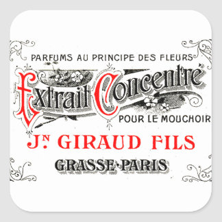 French perfume label art stickers