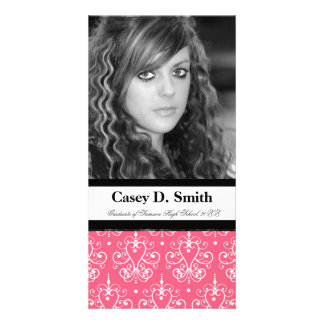 French Pink Damask Special Event Photocard Card