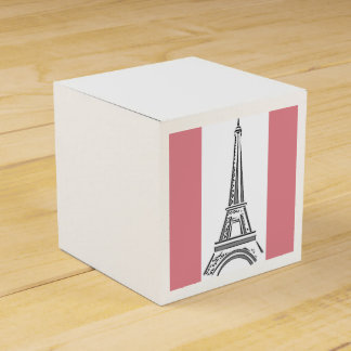 French Pink Eiffel Tower Party Favors Box