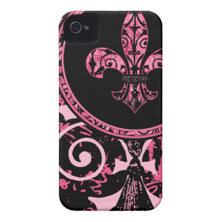 French Pink Fleur de lis iPhone 4 Cover