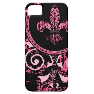French Pink Fleur de lis iPhone SE/5/5s Case