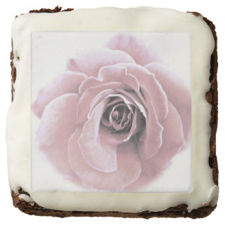 French Pink Rose Chocolate Brownie