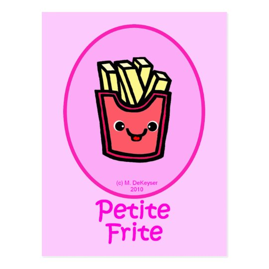 French - Pink Small Fry - French Fries Postcard