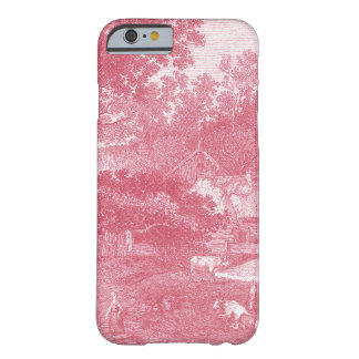 French Pink Toile de Jouy Shabby Counry Landscape Barely There iPhone 6 Case