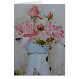 French pitcher roses  card