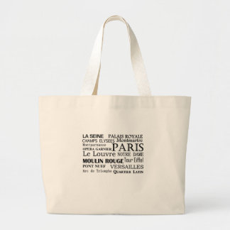 French Places and Destinations Tote Canvas Bags