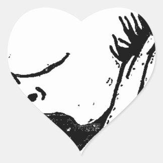 French poet Paul Verlaine by Felix Vallotton Heart Sticker