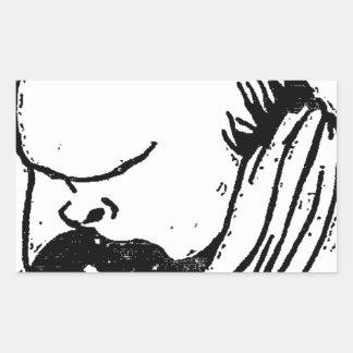 French poet Paul Verlaine by Felix Vallotton Rectangular Sticker