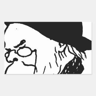 French poet Paul Verlaine from Le Livre des masque Rectangular Sticker
