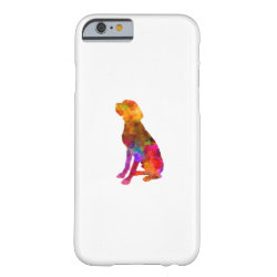 French Pointer in watercolor Barely There iPhone 6 Case