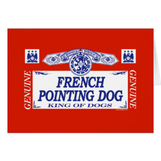 French Pointing Dog Card