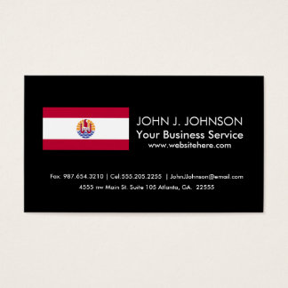 French Polenysia flag Business Card