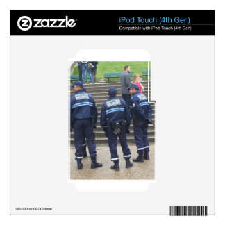 French Police outside Sacred Heart Basilica -Paris iPod Touch 4G Decal