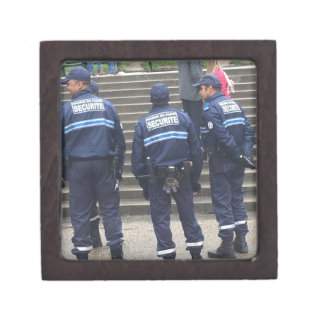 French Police outside Sacred Heart Basilica -Paris Jewelry Box