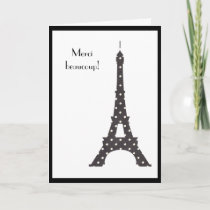 French Polka Dots Eiffel Tower Thank You