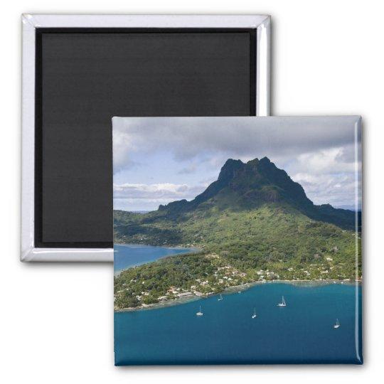 French Polynesia, Bora Bora. Aerial view of Magnet