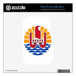 French Polynesia Coat Of Arms iPod Touch 4G Decals