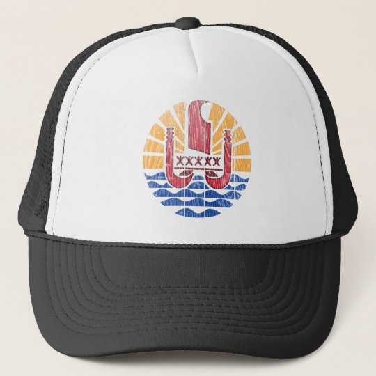 French Polynesia Coat Of Arms Trucker Hat