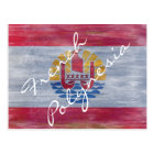 French-polynesia distressed flag postcard