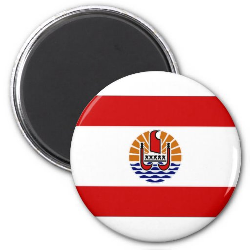 French Polynesia Flag 2 Inch Round Magnet