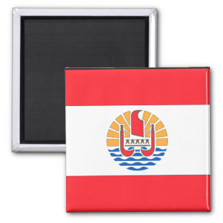 French Polynesia Flag 2 Inch Square Magnet